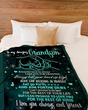 "To My Grandson - Nanny Large Fleece Blanket - 60"" x 80"" aos-coral-fleece-blanket-60x80-lifestyle-front-02"