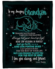 """To My Grandson - Nanny Large Fleece Blanket - 60"""" x 80"""" front"""