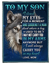 """To My Son - Mom Small Fleece Blanket - 30"""" x 40"""" front"""