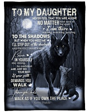 """To My Daughter - Dadda Large Fleece Blanket - 60"""" x 80"""" front"""