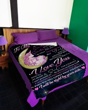 """To My Daughter - Mom Large Fleece Blanket - 60"""" x 80"""" aos-coral-fleece-blanket-60x80-lifestyle-front-01"""