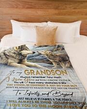 "To My Son - Nana Large Fleece Blanket - 60"" x 80"" aos-coral-fleece-blanket-60x80-lifestyle-front-02"