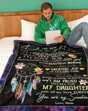 """To My Daughter- mom Large Fleece Blanket - 60"""" x 80"""" aos-coral-fleece-blanket-60x80-lifestyle-front-06"""