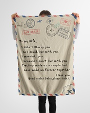 "To My Wife 2 Small Fleece Blanket - 30"" x 40"" aos-coral-fleece-blanket-30x40-lifestyle-front-14"
