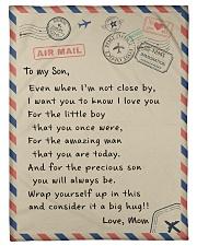 To My Son Fleece Blanket tile