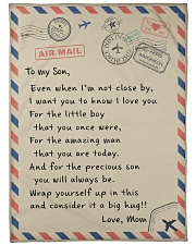 """To My Son Large Fleece Blanket - 60"""" x 80"""" front"""