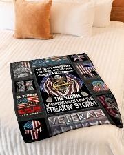 "Blanket Veteran  Small Fleece Blanket - 30"" x 40"" aos-coral-fleece-blanket-30x40-lifestyle-front-01"