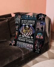 "Blanket Veteran  Small Fleece Blanket - 30"" x 40"" aos-coral-fleece-blanket-30x40-lifestyle-front-05"