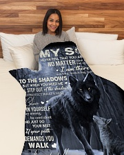 """To My Son - Mama Large Fleece Blanket - 60"""" x 80"""" aos-coral-fleece-blanket-60x80-lifestyle-front-05"""