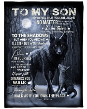"""To My Son - Mama Large Fleece Blanket - 60"""" x 80"""" front"""