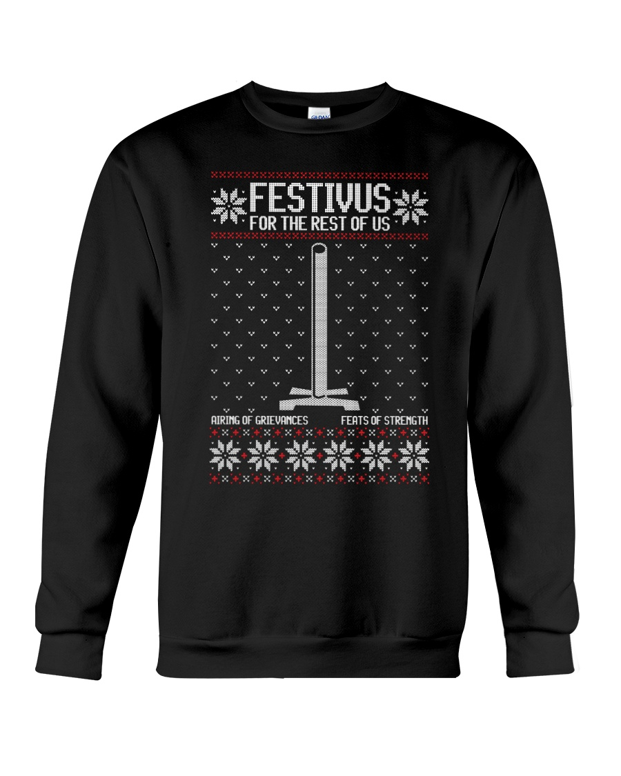 'Festivus - Not so Ugly Holiday Sweater' Crewneck Sweatshirt