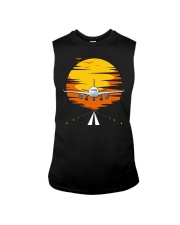 AIRPLANE GIFTS  - SUNSET AIRPLANE Sleeveless Tee tile