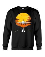 AIRPLANE GIFTS  - SUNSET AIRPLANE Crewneck Sweatshirt thumbnail