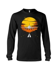 AIRPLANE GIFTS  - SUNSET AIRPLANE Long Sleeve Tee thumbnail