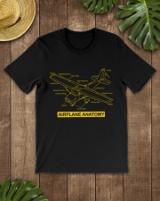 AVIATION PILOT GIFT - AIRPLANE ANATOMY Classic T-Shirt lifestyle-mens-crewneck-front-18