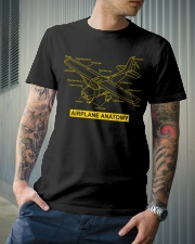 AVIATION PILOT GIFT - AIRPLANE ANATOMY Classic T-Shirt lifestyle-mens-crewneck-front-6