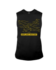 AVIATION PILOT GIFT - AIRPLANE ANATOMY Sleeveless Tee thumbnail