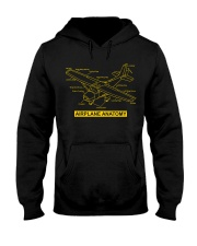 AVIATION PILOT GIFT - AIRPLANE ANATOMY Hooded Sweatshirt thumbnail