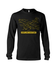 AVIATION PILOT GIFT - AIRPLANE ANATOMY Long Sleeve Tee thumbnail