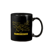 AVIATION PILOT GIFT - AIRPLANE ANATOMY Mug thumbnail