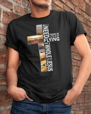 GIFTS FOR NEW PILOTS - WHOLE LOT OF JESUS Classic T-Shirt apparel-classic-tshirt-lifestyle-26
