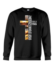 GIFTS FOR NEW PILOTS - WHOLE LOT OF JESUS Crewneck Sweatshirt thumbnail
