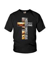 GIFTS FOR NEW PILOTS - WHOLE LOT OF JESUS Youth T-Shirt thumbnail