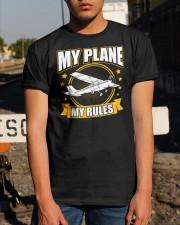 PILOT GIFT - MY PLANE MY RULE Classic T-Shirt apparel-classic-tshirt-lifestyle-29