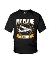PILOT GIFT - MY PLANE MY RULE Youth T-Shirt thumbnail