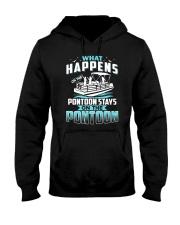 PONTOON BOAT GIFT - WHAT HAPPENS Hooded Sweatshirt thumbnail