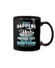 PONTOON BOAT GIFT - WHAT HAPPENS Mug thumbnail