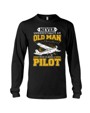 PILOT GIFTS -  NEVER UNDERESTIMATE AN OLD MAN Long Sleeve Tee thumbnail