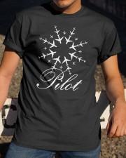 PILOT CHRISTMAS GIFT - SNOWFLAKE Classic T-Shirt apparel-classic-tshirt-lifestyle-28
