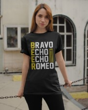 Pilot Beer Lover Gifts - Bravo Echo Echo Romeo Classic T-Shirt apparel-classic-tshirt-lifestyle-19
