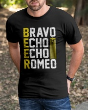 Pilot Beer Lover Gifts - Bravo Echo Echo Romeo Classic T-Shirt apparel-classic-tshirt-lifestyle-front-52