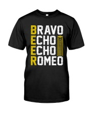 Pilot Beer Lover Gifts - Bravo Echo Echo Romeo Classic T-Shirt front
