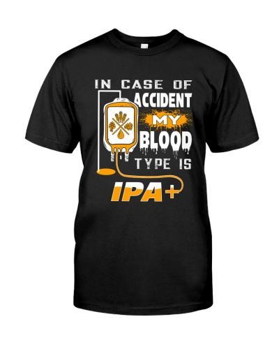 BREWERY CLOTHING - MY BLOOD TYPE IS IPA