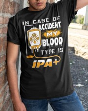 MY BLOOD TYPE IS IPA Classic T-Shirt apparel-classic-tshirt-lifestyle-27