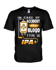 MY BLOOD TYPE IS IPA V-Neck T-Shirt thumbnail