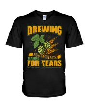 BREWING SOCIAL DISTANCE TRAINING FOR YEARS V-Neck T-Shirt tile