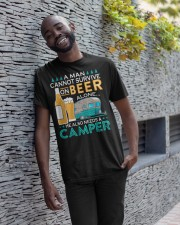 BONFIRE AND BEER - CAMPER Classic T-Shirt apparel-classic-tshirt-lifestyle-front-33