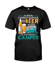 BONFIRE AND BEER - CAMPER Classic T-Shirt front