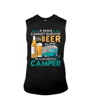 BONFIRE AND BEER - CAMPER Sleeveless Tee tile