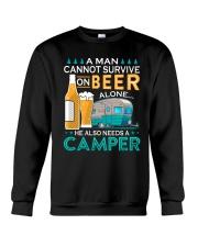 BONFIRE AND BEER - CAMPER Crewneck Sweatshirt thumbnail