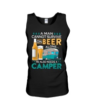 BONFIRE AND BEER - CAMPER Unisex Tank thumbnail