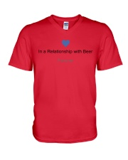 VALENTINE GIFT IN A RELATIONSHIP WITH BEER FOREVER V-Neck T-Shirt thumbnail