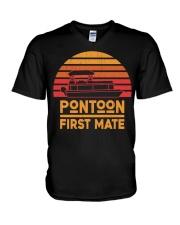 PONTOON LOVER - PONTOON FIRST MATE V-Neck T-Shirt thumbnail