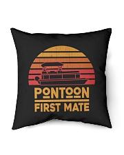 "PONTOON LOVER - PONTOON FIRST MATE Indoor Pillow - 16"" x 16"" thumbnail"