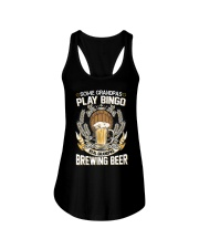 CRAFT BEER AND BREW - REAL GRANDPAS Ladies Flowy Tank thumbnail