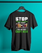BREWERY CLOTHING - CRAFT BEER MAKES ME HAPPY Classic T-Shirt lifestyle-mens-crewneck-front-3